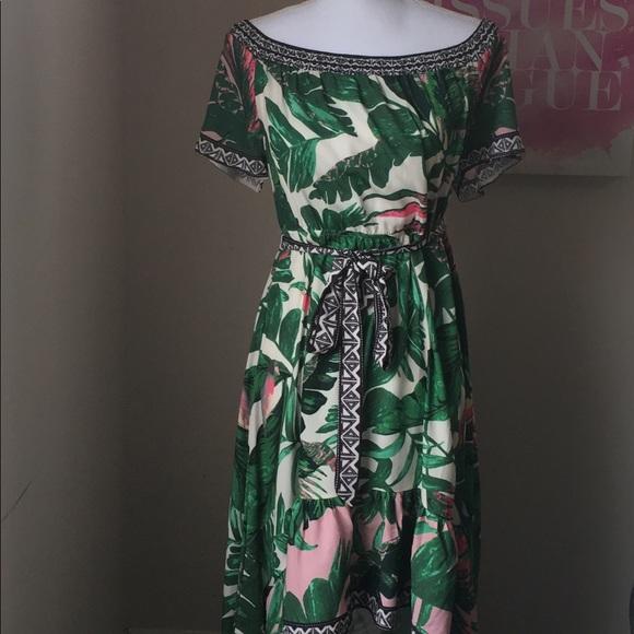 0dc7fd6bb6 Flying Tomato Dresses   Skirts - Flying Tomato Palm Leaves Maxi Dress